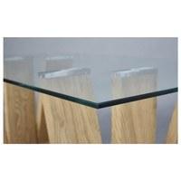 Konferenčný stolík ANTIA dub/sklo 2