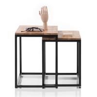 Set konferenčních stolků AVERY dub/černá, 2 ks 5
