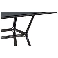Záhradný stôl  AVRIL čierna/tmavohnedá 3