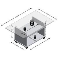 Konferenční stolek AZUR bílá/beton 2