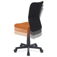 Kancelářská židle BAMBI oranžová/černá 6