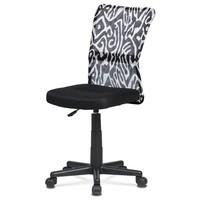 Kancelářská židle BAMBI černá s motivem 1