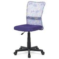 Kancelářská židle BAMBI fialová s motivem 1