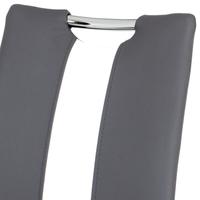Jedálenská stolička BARBORA sivobiela/chróm 4