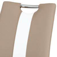 Jídelní židle BARBORA hnědo-bílá/chrom 4