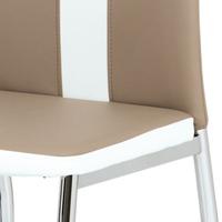 Jídelní židle BARBORA hnědo-bílá/chrom 5