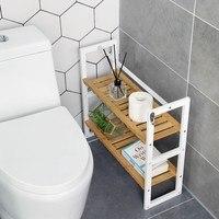 Koupelnový regál BCB12WN bílá/bambus 4