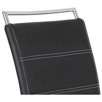 Jedálenská stolička BELLA 2 čierna/chróm 4