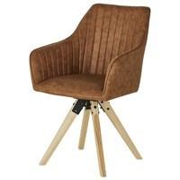 Jídelní židle BENITO cognac 1