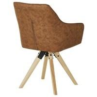 Jídelní židle BENITO cognac 5