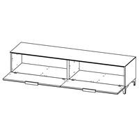 TV stolek BENTLEY bílá matná/bílé sklo, hloubka 47 cm 2
