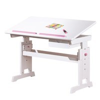 Nastavitelný psací stůl BERNIS bílá 1