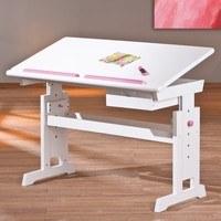 Nastavitelný psací stůl BERNIS bílá 5