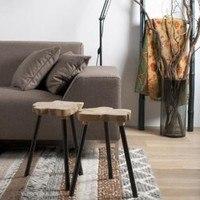 Odkládací stolek  BERTINA černá/teak 2
