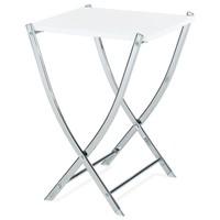 Přístavný stolek BISTRO bílá/chrom 1