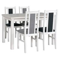 Jídelní židle BOLS 14 šedá/bílá 2