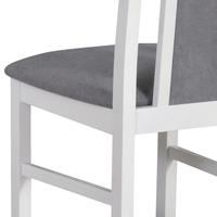 Jídelní židle BOLS 14 šedá/bílá 4