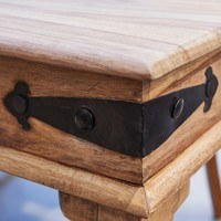 Jídelní stůl BOMBAY přírodní palisandr/černá 3