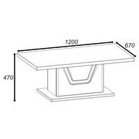 Konferenční stolek BONN jilm matný/černá 4