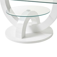 Konferenční stolek  BOSTON bílá, vysoký lesk 3