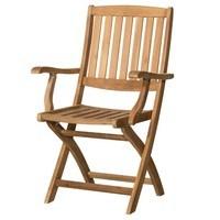Skládací židle s područkami CAMBRIDGE 2 teakové dřevo 1