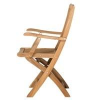 Skládací židle s područkami CAMBRIDGE 2 teakové dřevo 3