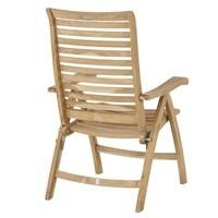 Polohovací židle  CAMBRIDGE PREMIUM teakové dřevo 3