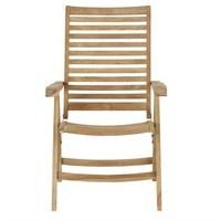 Polohovací židle  CAMBRIDGE PREMIUM teakové dřevo 4