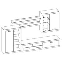 Obývacia stena CANCAN dub sonoma/biela 3