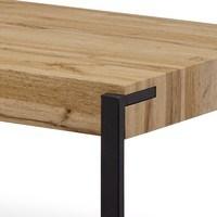 Konferenční stolek CARLITO dub divoký/černá 2