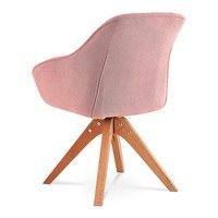 Jídelní židle CHIP I růžová/buk 2