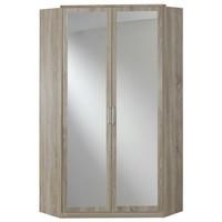 Rohová šatní skříň CLICK 543 dub sägerau/zrcadlo 1
