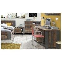 Psací stůl CLIF staré dřevo/beton 3