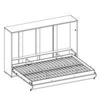 Výklopná postel CONCEPT PRO CP-04 bílá matná, 140x200 cm, horizontální 4