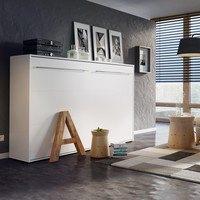 Výklopná postel CONCEPT PRO CP-04 bílá matná, 140x200 cm, horizontální 2