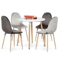 Jedálenská stolička COURTNEY sivá/buk 2