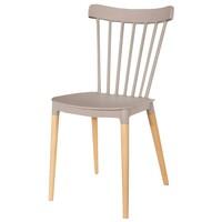 Jedálenská stolička DAKOTA latte/buk 1