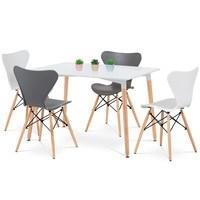 Jídelní židle DARINA bílá/buk 2