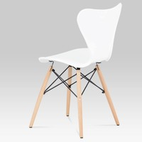 Jídelní židle DARINA bílá/buk 4