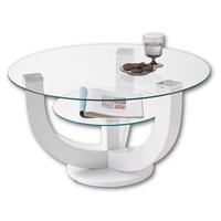 Konferenční stolek  DENVER bílá, vysoký lesk 2