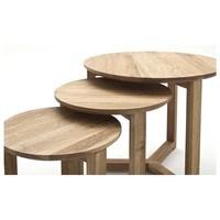 Přístavné stolky DUNE dub, 3 ks 2