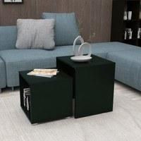 Přístavný stolek DUO černá, 2 ks 2