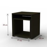 Přístavný stolek DUO černá, 2 ks 4