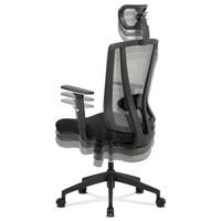 Kancelářská židle EDWARD černá/šedá 3