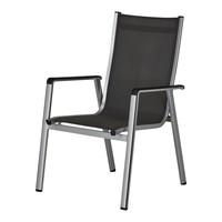 Zahradní židle ELEMENTS stříbrná/antracit 1