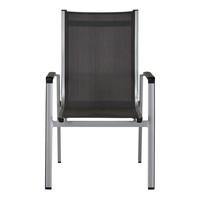 Zahradní židle ELEMENTS stříbrná/antracit 3