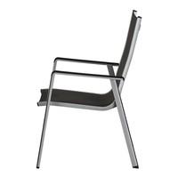 Zahradní židle ELEMENTS stříbrná/antracit 4