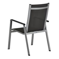 Zahradní židle ELEMENTS stříbrná/antracit 5
