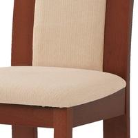Jídelní židle ELENA třešeň/béžová 4