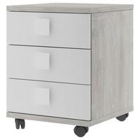Noční stolek EMMET pinie cascina/bílá 1